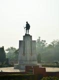 Statue Mahatma Gahdhi in der Mitte von Jaipur Lizenzfreies Stockfoto