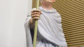 Statue of Mahatma Gandhi stock footage