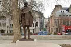 Statue Mahatma Gandhi Parliament Square London Stock Photo