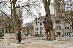 Statue Mahatma Gandhi Parliament Square London Stock Photos