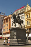 Statue on main square in Zagreb, Croatia Royalty Free Stock Photos