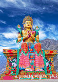 Statue of Maitreya Buddha in Ladakh, India Stock Images