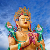Statue of Maitreya Buddha near Diskit Monastery in Ladakh, India Stock Photo