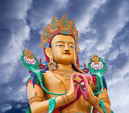 Statue of Maitreya Buddha near Diskit Monastery in Ladakh, India Royalty Free Stock Photos
