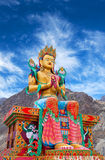 Statue of Maitreya Buddha near Diskit Monastery in Ladakh, India Royalty Free Stock Photo
