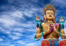 Statue of Maitreya Buddha near Diskit Monastery in Nubra valley, Royalty Free Stock Photo
