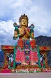 Statue of Maitreya Buddha near Diskit Monastery in Nubra valley, Royalty Free Stock Image