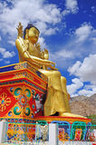 Statue of Maitreya at Likir Monastery Royalty Free Stock Photo