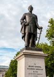 Statue of Major General Henry Havelock located in Trafalgar Square in London. royalty free stock image