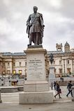 The statue of major general sir henry havelock of bronze at trafalgar square london royalty free stock images