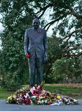 Statue of Man for Anzac Remembrance stock image