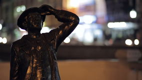 Statue of a man with a blurred background Stock Image