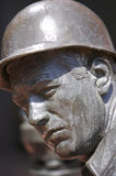 Statue on Man with Hard Hat Stock Photography