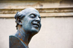 Statue of a man laughing Stock Photography