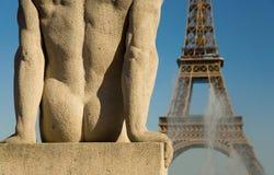 Statue of man at Trocadero Stock Photo