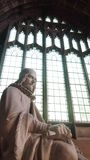 Statue in Manchester Cathedral, UK Stock Images