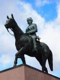 Statue of Mannerheim. In Helsinki stock photo