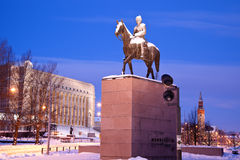 Statue of Mannerheim Stock Photos