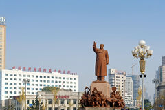 The statue of Mao Zedong Stock Images