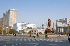 The statue of Mao Zedong Stock Photos