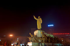 The statue of Mao Zedong Stock Photography