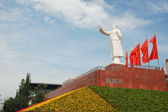 Statue of Mao zedong in Chengdu Stock Image