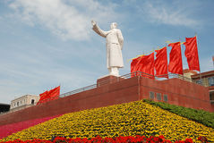 Statue of Mao zedong in Chengdu. Sichuan, west of China. It lies the center of Chengdu Royalty Free Stock Images
