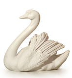 A statue of marble depicting a swan Royalty Free Stock Images