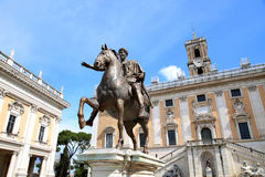 Statue Marco Aurelio in Rome, Italy Stock Photo