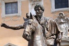 Statue Marco Aurelio in Rome, Italy Stock Images
