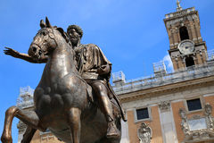 Statue Marco Aurelio in Rome, Italy Royalty Free Stock Photography