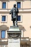 Statue Marco Minghetti in Corso Vittorio Emanuele II, Rome, Ital Stock Image