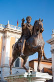 The Statue of Marcus Aurelius on the Capitoline Hill. Rome. Royalty Free Stock Photo