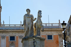 Statue of Marcus Aurelius in Capitoline Hill, Rome Italy Royalty Free Stock Photo