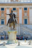 Statue of Marcus Aurelius in Capitoline Hill, Rome Italy Royalty Free Stock Photography