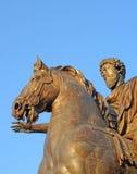 Statue marcus aurelius rome Stock Image