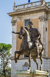 Statue of Marcus Aurelius, Rome Royalty Free Stock Photo