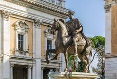 Statue of Marcus Aurelius, Rome Stock Image