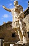 Statue of Marcus Nonius Balbus; Herculaneum. Statue of Marcus Nonius Balbus on the Herculaneum Terrace, in portrait mode Stock Images