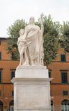 Statue of Maria Louisa of Spain, Duchess of Lucca in Lucca, Italy Royalty Free Stock Photography