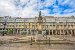 Statue of Maria Pita on Square on Maria Pita popular vacation spot among locals and tourists, A Coruna, Spain. Statue of Maria Pita on Square on Maria Pita royalty free stock photography