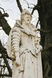 Statue of Marie de Medici in the Jardin du Luxembourg, Paris, France. Statue of Marie de Medici, Queen of France as the second wife of King Henry IV of France stock photography