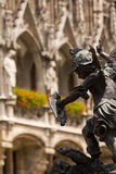 Statue in Marienplatz, Munich. Medieval Statue in Marienplatz, Munich, Southern Germany stock images
