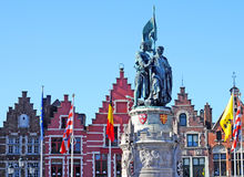 Statue, market place, Bruges Royalty Free Stock Photography