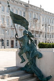 Statue of Marksmen in Trieste, Italy. Statue of Marksmen in the waterfront of Trieste, Italy Royalty Free Stock Photos