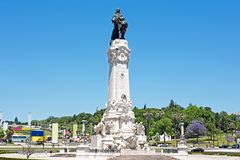 Statue from Marques de Pombal in Lisbon Portugal Stock Photography