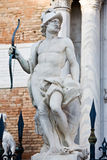 Statue of mars ares. In the beautiful city of venice in italy Stock Photos