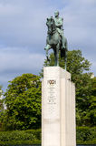 A statue of Marshal Ferdinand Foch (1938) in Paris, France. Foch was a French soldier and the Allied Generalissime during the Firs Royalty Free Stock Image