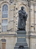Statue Martin Luther. City - Dresden. Capital and second largest city and urban district in the German state of Saxony. The city lies on both sides of the river royalty free stock image