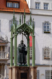 Statue of Martin Luther the reformator in Wittenberg, Germany Royalty Free Stock Image
